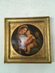 Cadre Madone à la chaise d après Raphael.