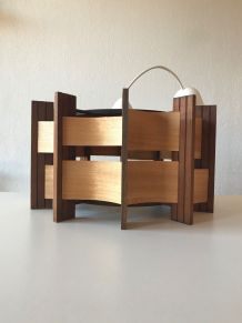 Suspension vintage en bois style scandinave