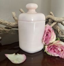 Pot en opaline rose