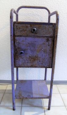 Table de chevet hôpital vintage circa 1950/1960