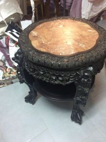 Superbe table sellette ancienne