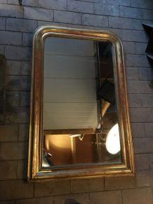 Miroir Louis Philippe doré à la feuille