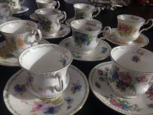 Superbe service en porcelaine albert royal