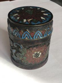 Boite à opium en émaux cloisonnés - CHINE 1910