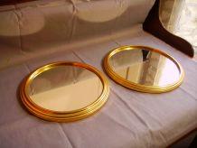 Lot de 2 plateaux miroir anciens