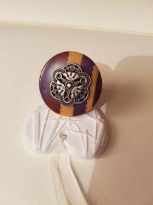 Bague en bouton taille 55 réglable