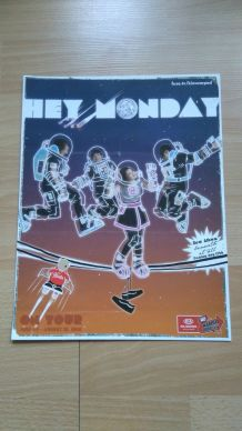 "Affiche de concert du groupe ""Hey Monday"""