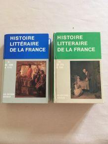 2 livres Histoire Littéraire de la France