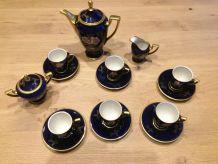 Service à café bleu cobalt