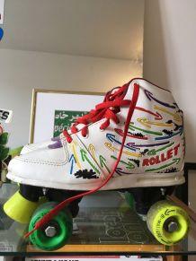 Paire de rollers 4 roues années 80'-90'