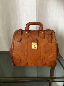 Sac/malette en cuir de porc gold