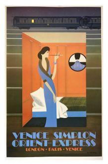 Affiche publicitaire Venice Simplon Orient-Express