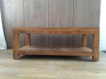 Table basse ou d'appoint en bois teck massif
