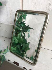 Ancien miroir de barbier biseauté
