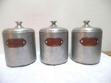 Trio de boite en alu vintage