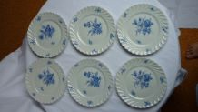 Set 6 assiettes à dessert porcelaine Haviland Limoges