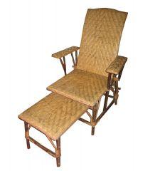 Fauteuil  Chaise longue transat en rotin et Ronce Aubépine