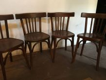 LOT DE 4 CHAISES FISCHEL