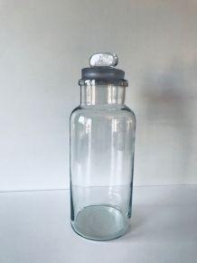 Grand pot d'apothicaire en verre