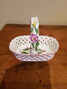 Panier décoratif en porcelaine du Portugal