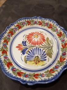 Assiette  plate céramique quimper