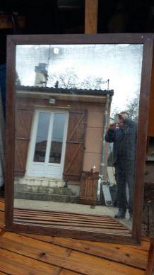 grand miroir trumeau glace ancienne mercure