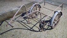 ancienne remorque vélo mobylette bicyclette vintage michelin