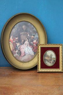 Lot tableau inspiration XVIIIe siècle
