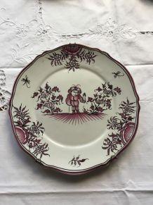 Assiette décorative ancienne