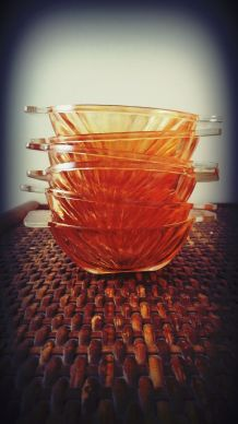 coupelle ramequin HUILOR verre irisé orange