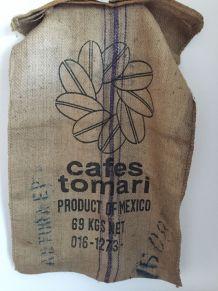 Sac en toile de jute café mexicain