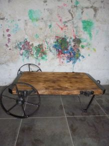 CHARIOT INDUSTRIEL - TABLE BASSE