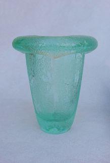 Daum - Vase polylobé à décor givré