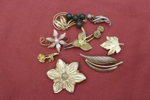 lot Broches dore vintage