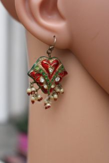 boucles d'oreilles indienne vintage