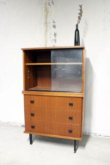 Meuble rangement vitrine 1950's esprit Guariche
