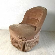 Chauffeuse vintage ocre clair
