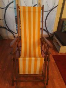 chaise -transat de paquebot