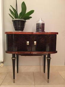 Table d'appoint style 1920, en bois massif vernis