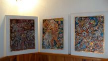 3 gravures contemporain artistique sur aluminium signé M; CA
