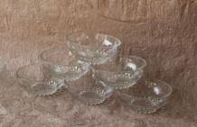 Lot de 6 bols à Dessert, glace