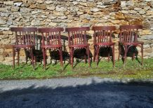 5 Chaises bistrot