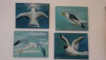 4 peintures huile sur toile