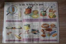 Ancienne affiche scolaire ,  Le blé,la farine ,le pain,Le se