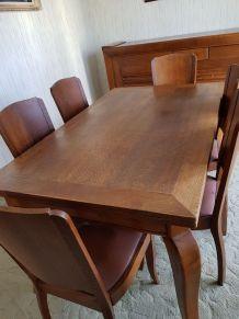 Table chêne massif et 6 chaises