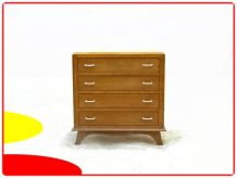 Commode vintage bois massif clair 1950