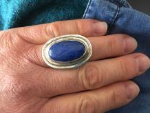 Bague argent avec Lapis Lazuli