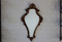 Miroir doré  en résine baroque roccoco