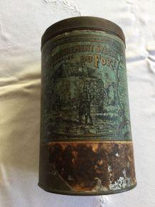 Boîte métallique cylindrique