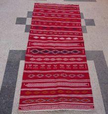 Tapis kilim rouge 280cm*125cm
